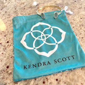 Kendra Scott Elton Cuff Bracelet Gold & Grey